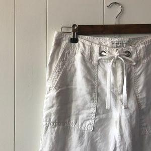 Banana Republic White LINEN Pants, 100% Linen Pant